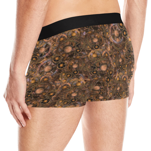 Steampunk Cogs up to 3XL Men's Boxer Briefs with Merged Design (Model  L10)