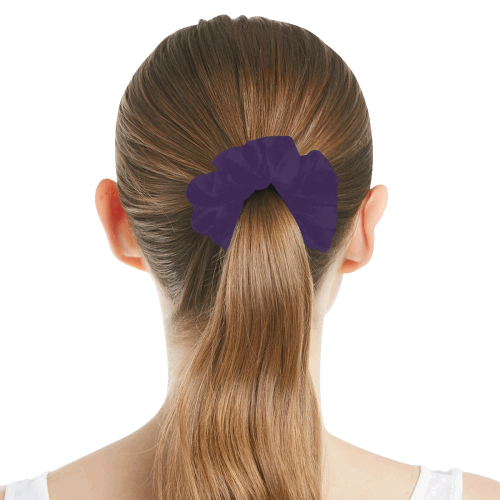 color Russian violet All Over Print Hair Scrunchie