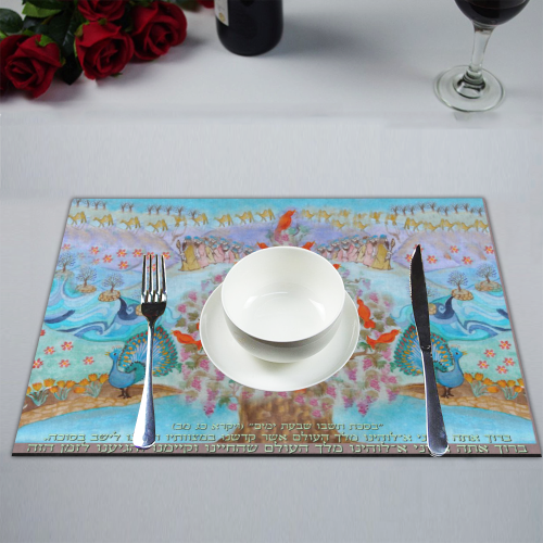 projet soucot- lechev bassouka-1- draft Placemat 14'' x 19'' (Four Pieces)