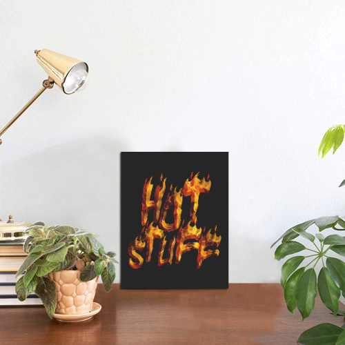 """Flaming HOT STUFF Photo Panel for Tabletop Display 6""""x8"""""""