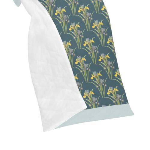 "Yellow irises Quilt 50""x60"""