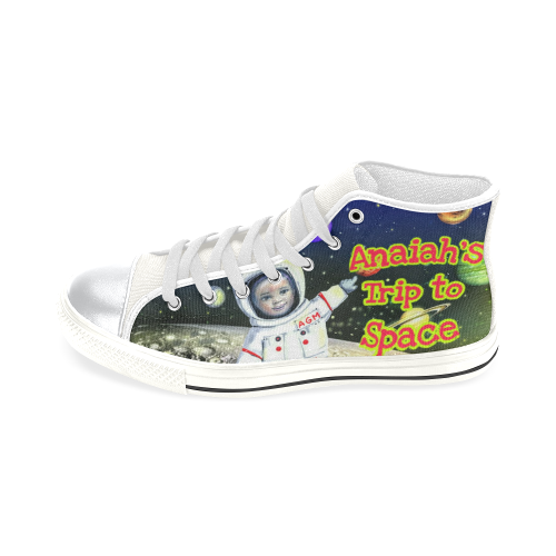 Anaiah's Space Shoe High Top Canvas Shoes for Kid (Model 017)
