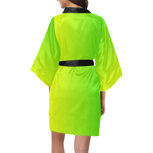 Yellow and Green Ombre Kimono Robe