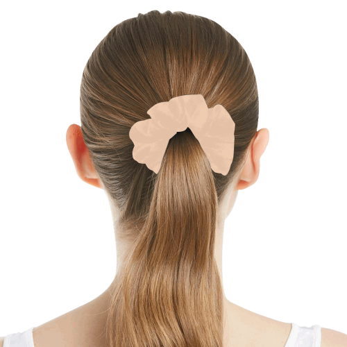 color apricot All Over Print Hair Scrunchie
