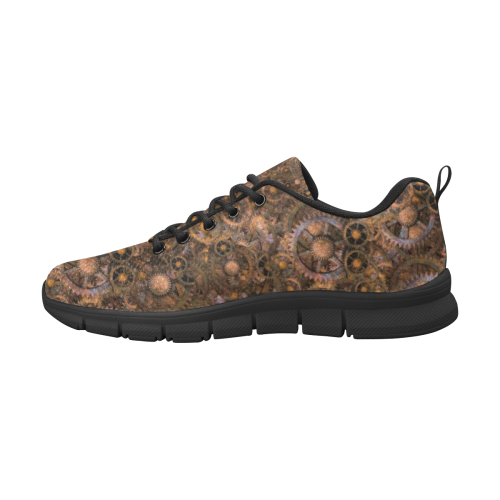 Steampunk Cogs Mens Men's Breathable Running Shoes (Model 055)