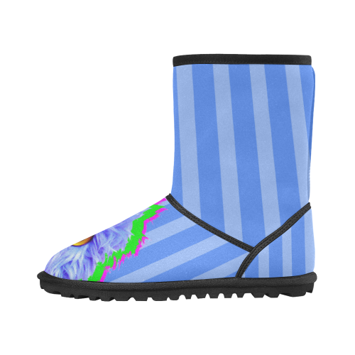 PopArt_Twitchy Custom High Top Kid's Snow Boots (Model 050)