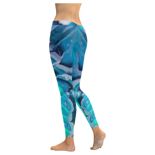 sea storm. Low Rise Leggings (Invisible Stitch) (Model L05)