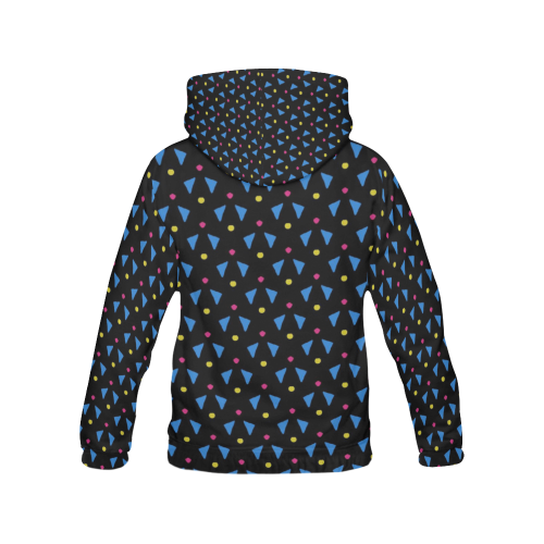 Funny Doodle Pattern 2A by JamColors All Over Print Hoodie (for Women)
