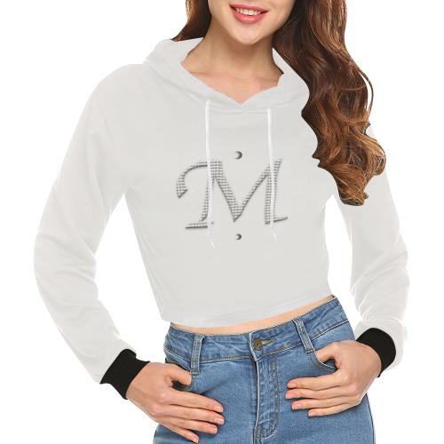 Mud-di Siganture M Snug All Over Print Crop Hoodie for Women (Model H22)
