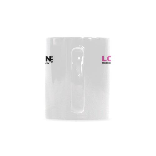 Ceramic Mug Pink In Loving Memory Custom White Mug (11oz)