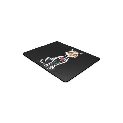 Sugar Skull Cat Black Rectangle Mousepad