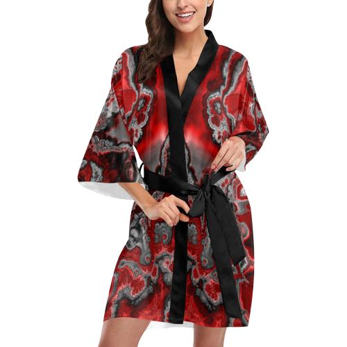 awesome fractal marbled 07 Kimono Robe