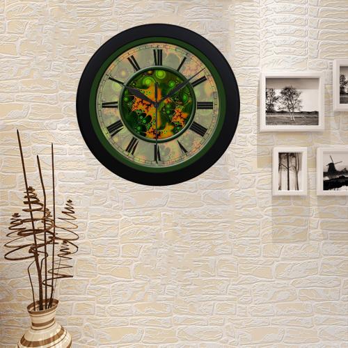 Pretty Paisley Clock Circular Plastic Wall clock