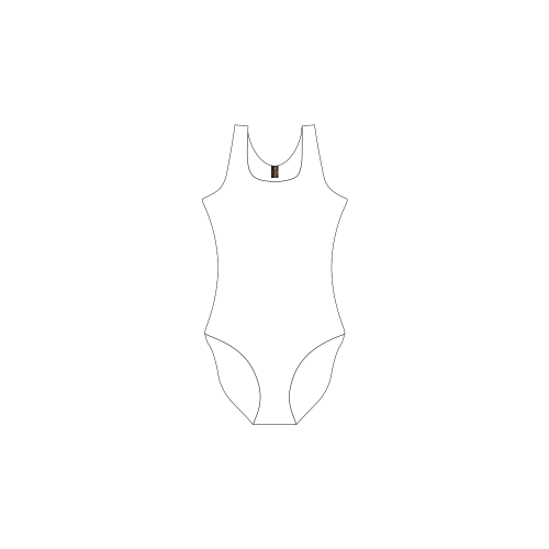 NUMBERS Collection Private Brand Tag on Women's One Piece Swimsuit (3cm X 5cm)