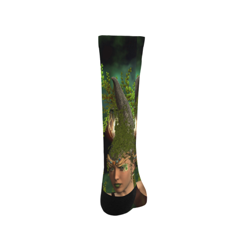 Beautiful fairy in the night Trouser Socks (For Men)