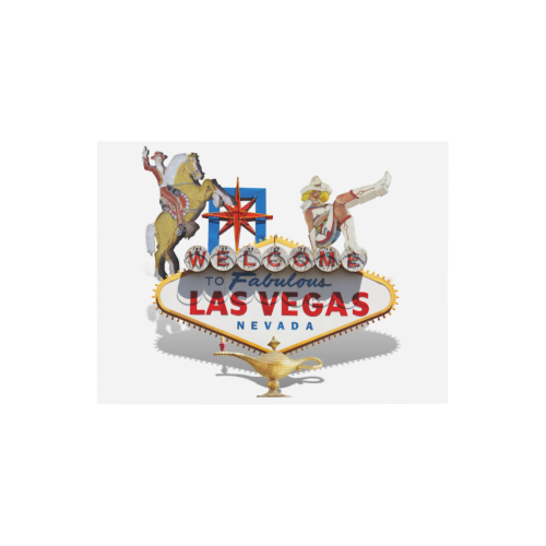 """Las Vegas Welcome Sign Photo Panel for Tabletop Display 8""""x6"""""""