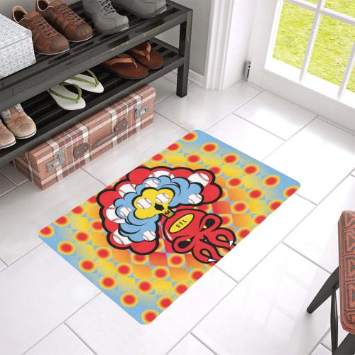 "SkullySpray STL Doormat Doormat 24""x16"" (Black Base)"