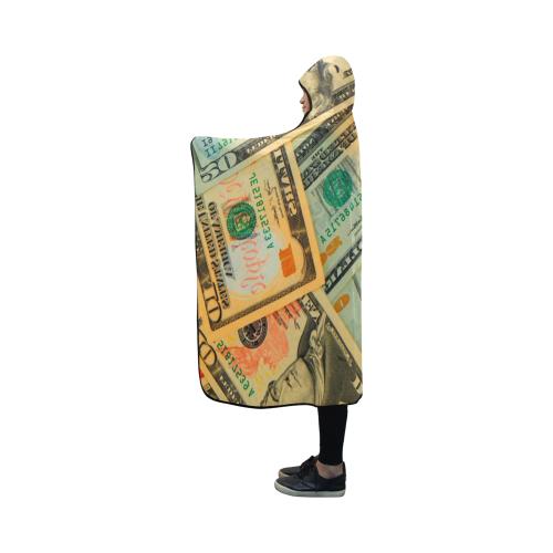 US DOLLARS 2 Hooded Blanket 50''x40''