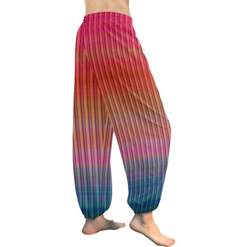 template 02 Women's All Over Print Harem Pants (Model L18)