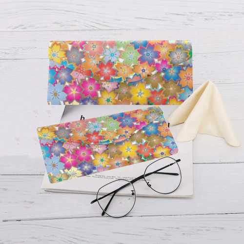 Flower Power Custom Foldable Glasses Case