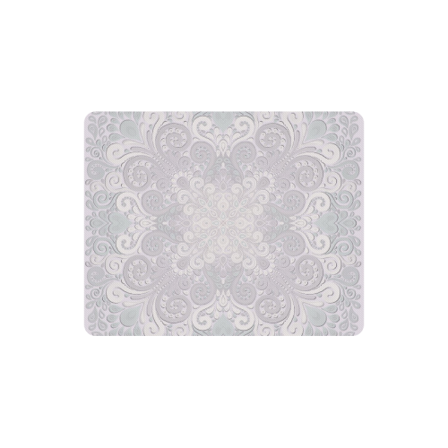 Romantic Powder Pink Ornate Watercolor Mandala Rectangle Mousepad