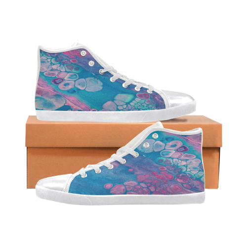 galaxie bluebell high top Women's High Top Canvas Shoes (Model 002)