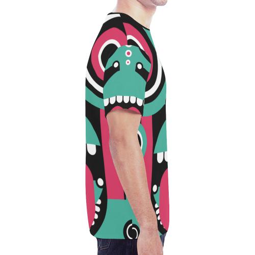tikitribal New All Over Print T-shirt for Men/Large Size (Model T45)