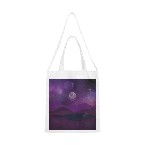 Purple Moon Night Canvas Tote Bag/Medium (Model 1701)