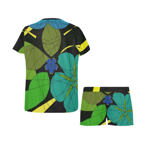 Space Garden 2020 Women's Short Pajama Set (Sets 01)
